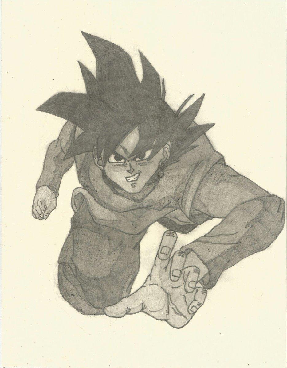José Alberto Martz On Twitter Dibujo A Lápiz De Goku Black De