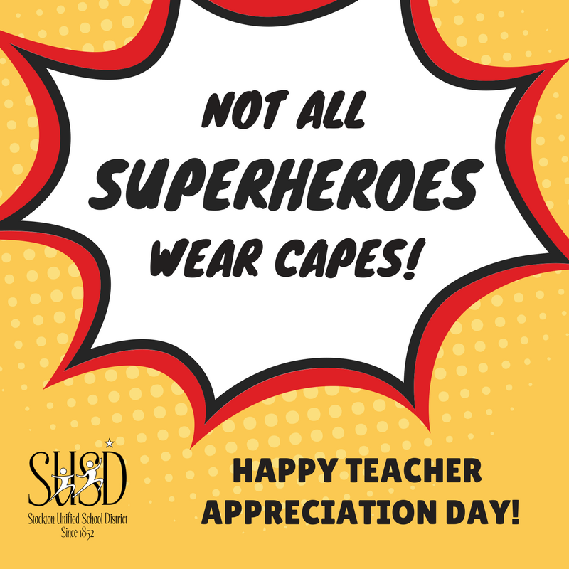 Stockton Unified On Twitter Teachers Are Real Life Superheroes