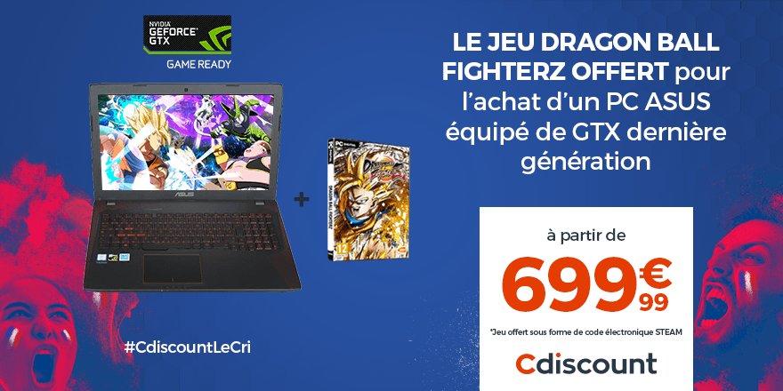 Carte Steam Cdiscount.Cdiscount On Twitter Dragonballfighterz Offert Pour L