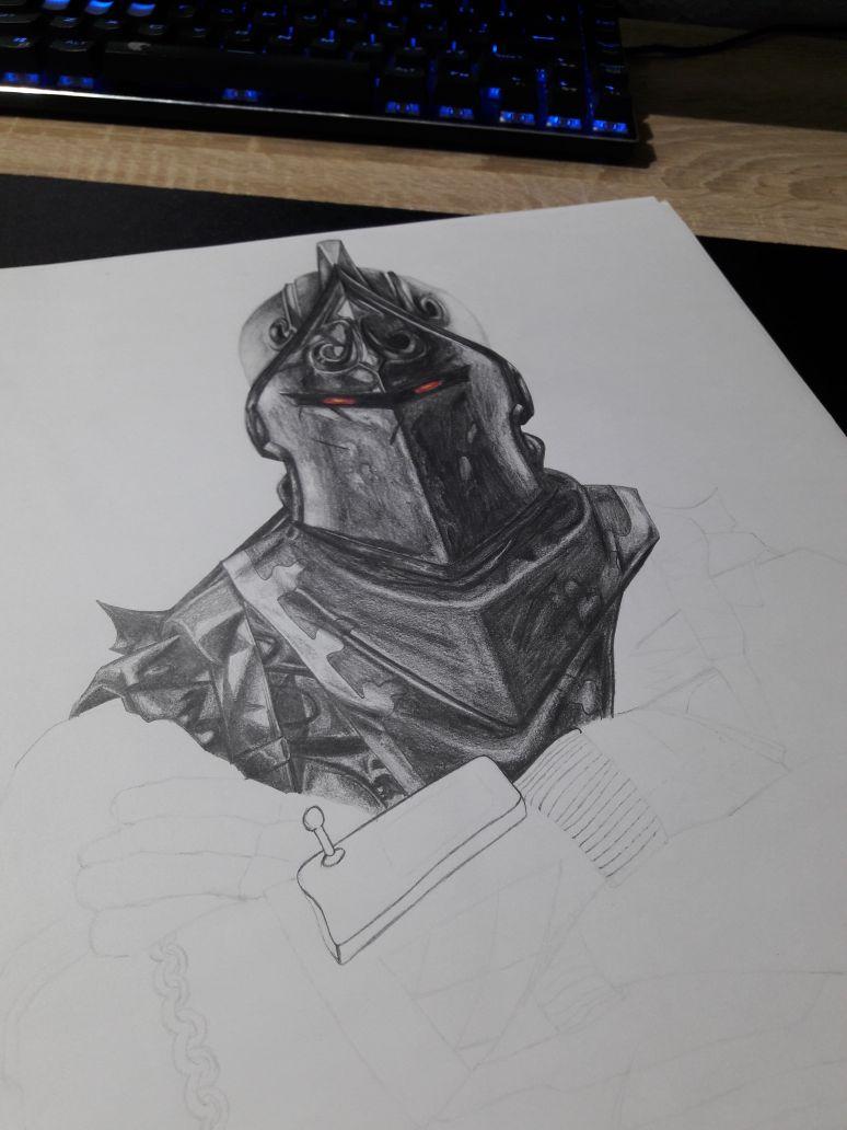 "roman⚡ on Twitter: ""wip of my Black Knight drawing on DIN ..."