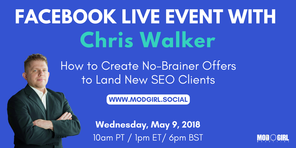 Are you ready to land your dream #SEO clients?   Don't miss our FB Live this Wednesday, May 9. @MandyModGirl & @superstarseo4 will be answering your SEO questions in our FB group for #mktg entrepreneurs. Join today: https://t.co/4czsYzpdR5
