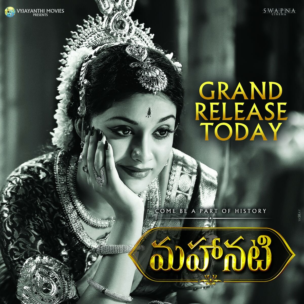 #Mahanati (U 177) From Today in Telugu States and Overseas!  https://t.co/3gAX7efRSD  #NadigaiyarThilagamFromMay11 https://t.co/IPQtly3RIH
