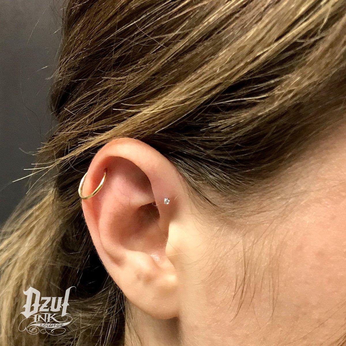 Incaton Tragus Earrings 16G 8mm Surgical Steel Cartilage Helix Triple Helix Piercing Jewelry