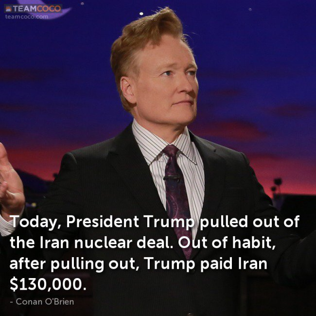 team coco on twitter conan jokes about trump pulling out and more