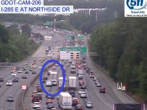 Crash: i-285/wb (outer loop) past new northside dr  /powers ferry rd