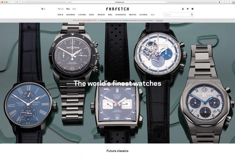 NEW: #Zenith now available on Luxury e-tailer Farfetch https://goo.gl/BQ54wn