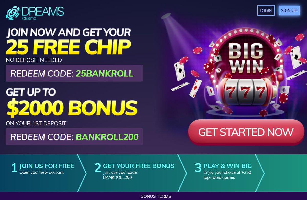 Dreams casino redeem codes