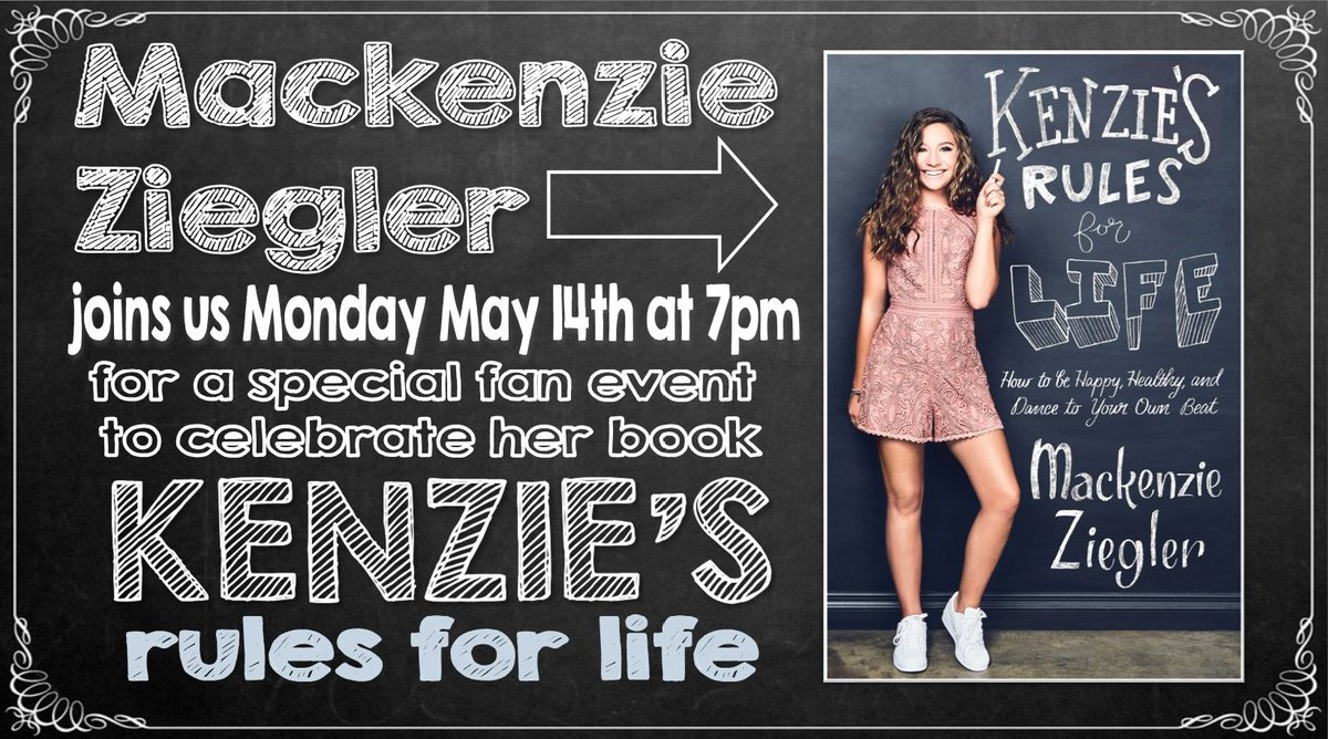 """... book """"Kenzie's Rules for Life: How to Be Happy, Healthy, and Dance to Your  Own Beat"""" https://www.facebook.com/events/1478533348924425/  …pic.twitter.com/ ..."""