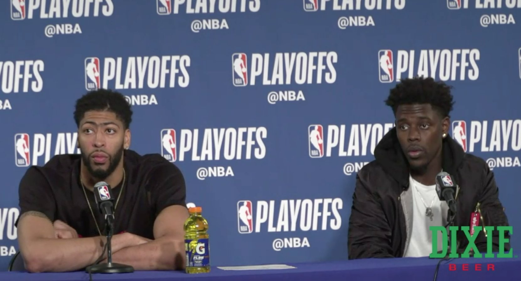 Davis and Holiday are speaking with the media  Watch Live: https://t.co/GNKFCulHmC  #doitBIGGER   (via @dixiebrewco) https://t.co/5Thl7uzGZe