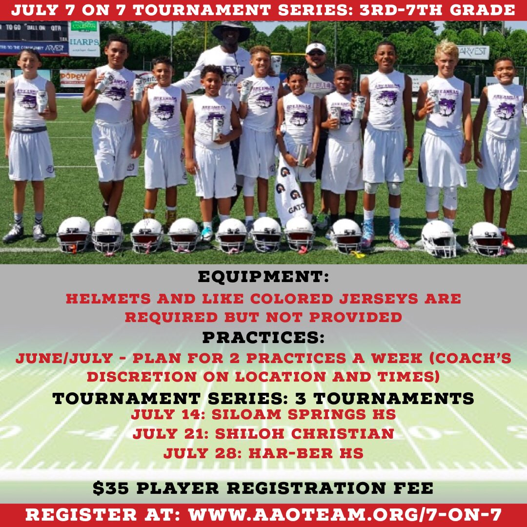 Aao On Twitter Our 7 On 7 Football Tournament Series This Summer
