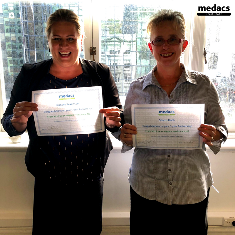 Happy Medacs Birthday!  We are excited to celebrate Storm's 5 year anniversary & Frances' 1 year anniversary with Medacs NZ. Congratulations! Thank for your passion, hard work & dedication. We appreciate you.  #medacs #medacslife #medacsbirthday #celebrate #bestteameverpic.twitter.com/OCvMQYd0uq