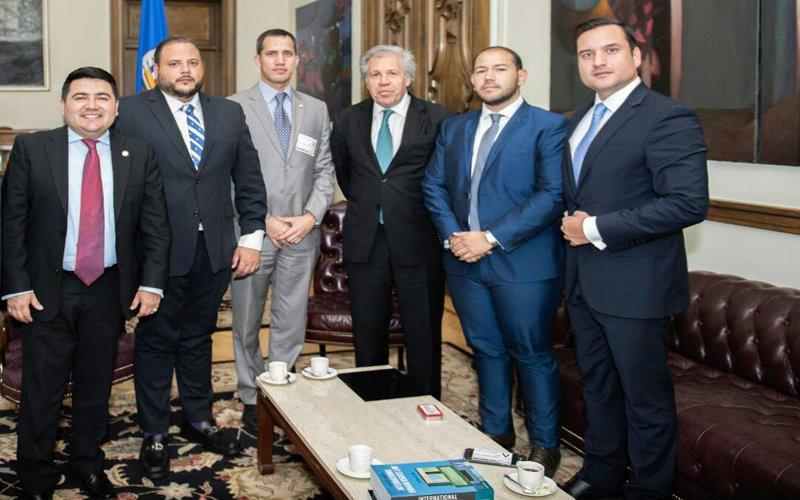 Testaferros de Juan Guaidó se dejaron ver con Almagro en la OEA