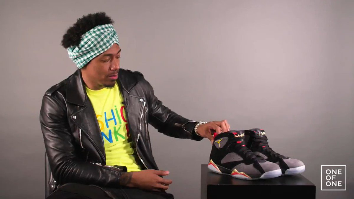 hot sale online a8da8 b1b67 One of One   NickCannon breaks down the details on his Wild  N Out x Air  Jordan 7 exclusives.