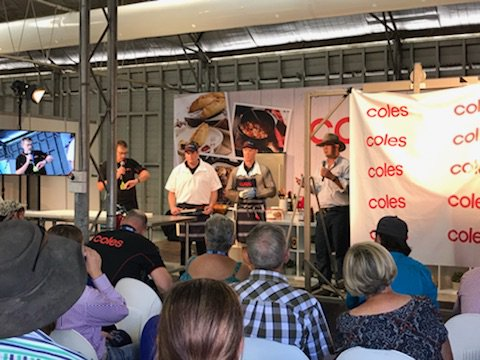 Learn about beef with the team from Coles.  Activity session on now at the Walter Pearce Pavilion for Beef Week! #BeefWeek #BeefAus2018