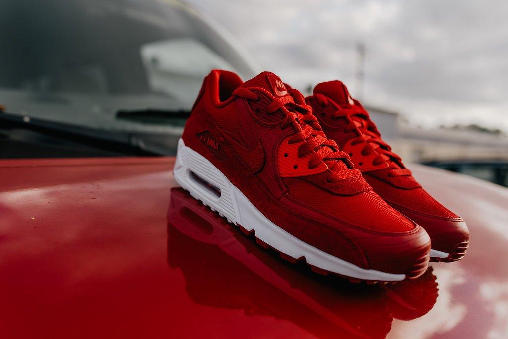 367932716b447 #Nike Air Max 90 Premium | Gym Red/Gym Red/White | $130 | Release Date 5/10  #AirMax90 #NewRelease #WestOrlando #Habaneropic.twitter.com/dUGzrt9YDl