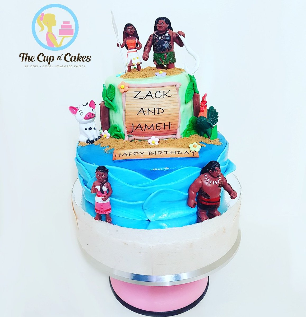 The Cup N Cakes On Twitter Moana Themed Birthday Cake For Zack