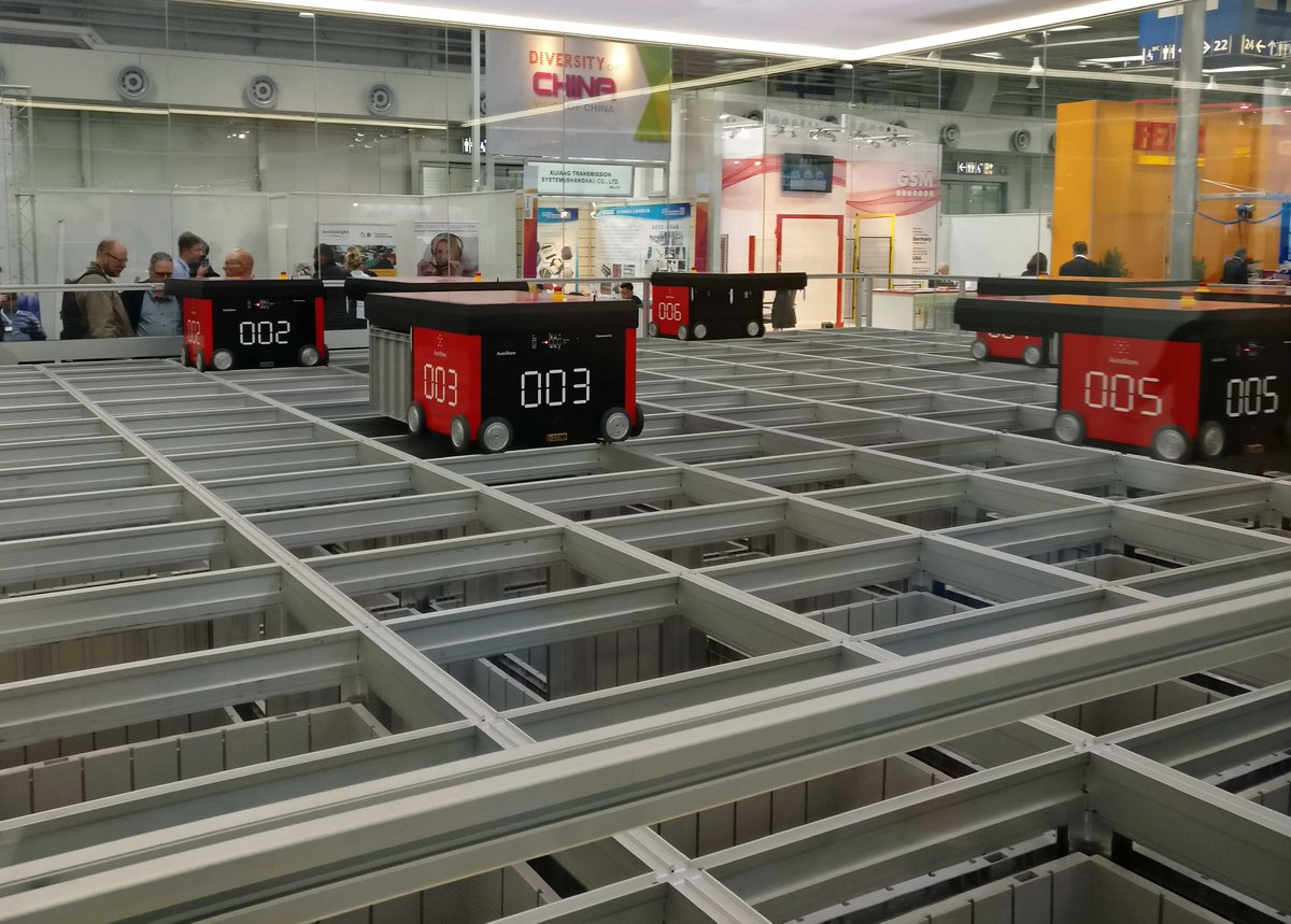 Itl Tuhh On Twitter Industry 4 0 On The Cemat Automated Storage With Autostore Seen During The Visit Of The Cemat In Hanover End Of April Assume Watching The Storage Processes Fair Autostore