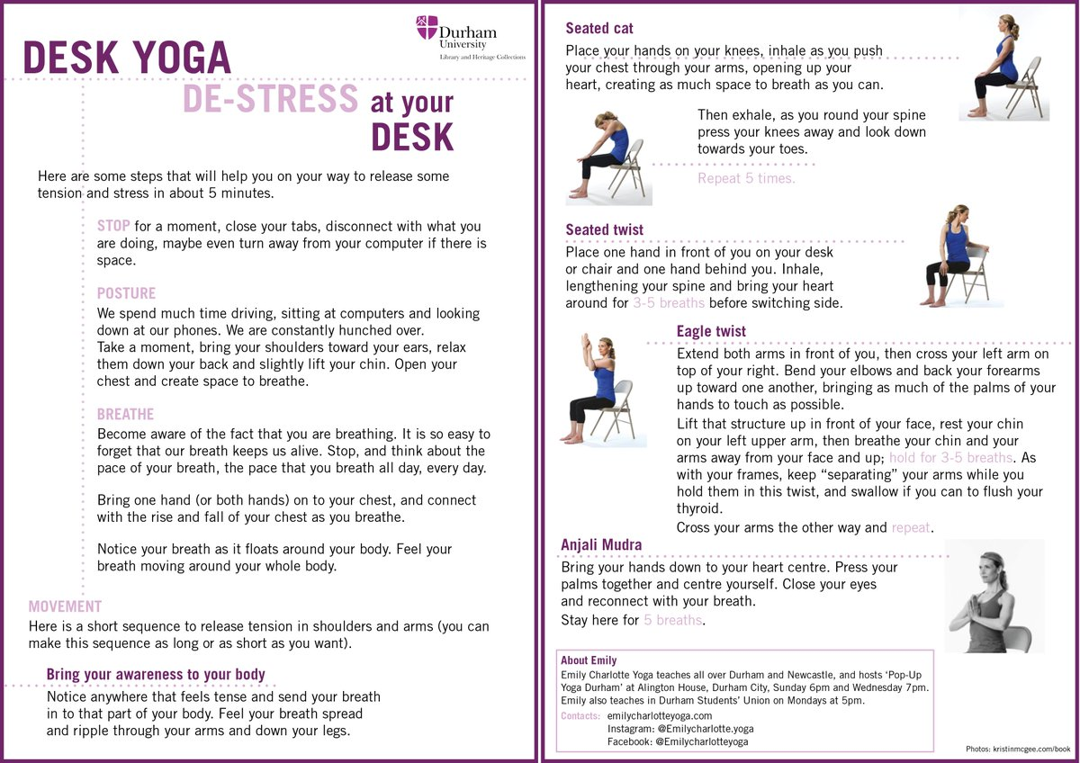 Durham Uni Library On Twitter Missed Our Desk Yoga Session No