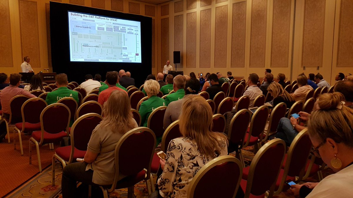 test Twitter Media - Yesterday at #Knowledge18 our customer @VIVATVerz and our colleague @bartvanmuyen gave a presentation about: 'Running the Business with #IT4IT and #ServiceNow'. #proud #bigaudience #greenjackets https://t.co/GQ1CRNlmK6
