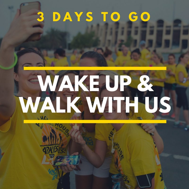 Almost there!! Are you ready to walk with us?