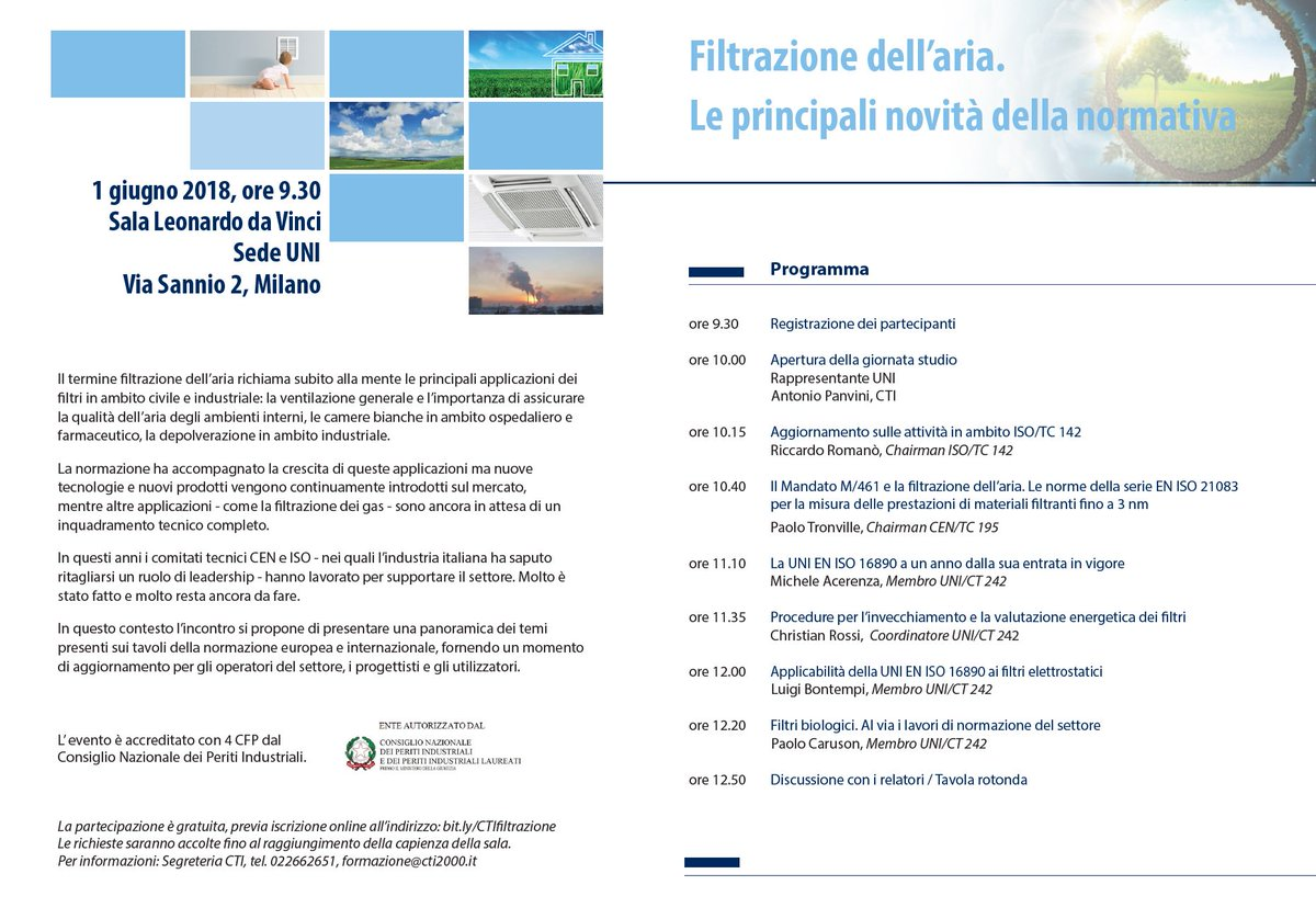 "Studio La Sala Milano cti on twitter: ""here it is the program! #airfilter"
