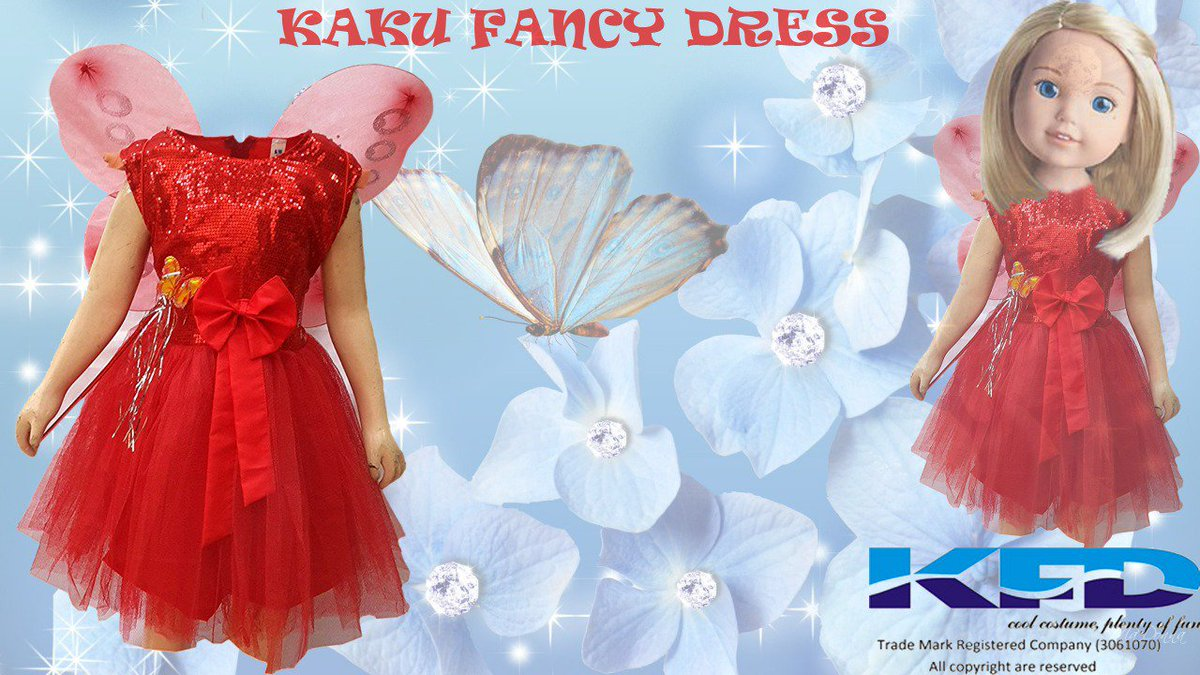 04818c3efc9 Red Butterfly dress includes red color frock with a butterfly wings and  hairband. Visit Here https   amzn.to 2HuEr5W  kaku  butterflydress ...