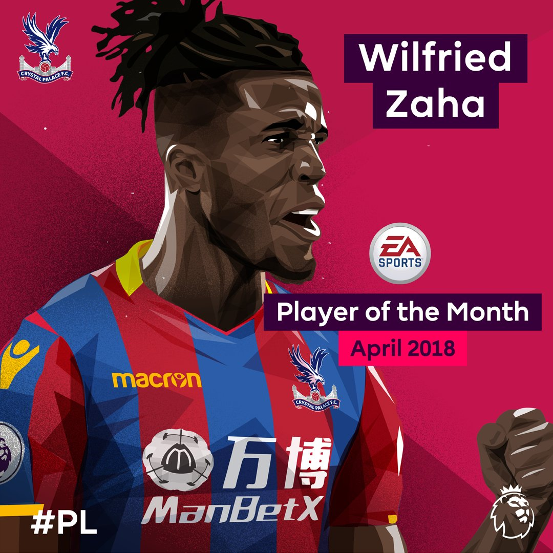 April belonged to @wilfriedzaha…  @CPFC's man is the @EASPORTSFIFA Player of the Month 🏆  #PLAwards