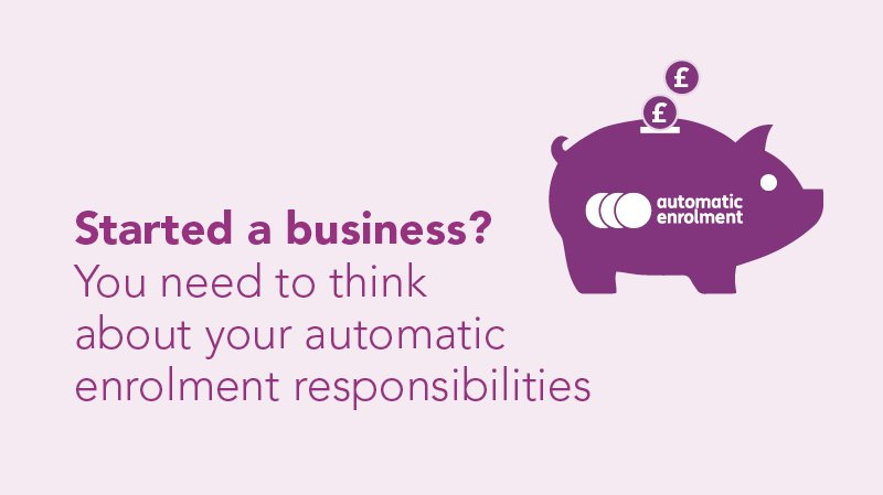 If you are starting a business, ensure you are fully prepared for #autoenrolment #UKBizLunch  https:// bit.ly/1PDBBdU  &nbsp;  <br>http://pic.twitter.com/bSMR1fJMl6