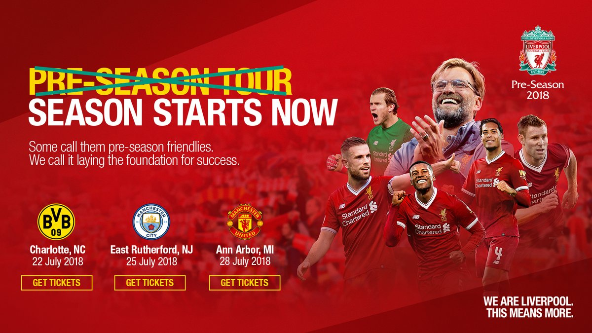 Get ready for the USA #ICC. 🇺🇸  We have three stunning games stateside this summer. 👌  @BVB 👉 bit.ly/CLTICC2018    @ManCity 👉 bit.ly/NYCICC2018    @ManUtd 👉 bit.ly/AAICC2018