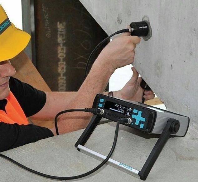 Ensayo de ultrasonidos en el hormigón