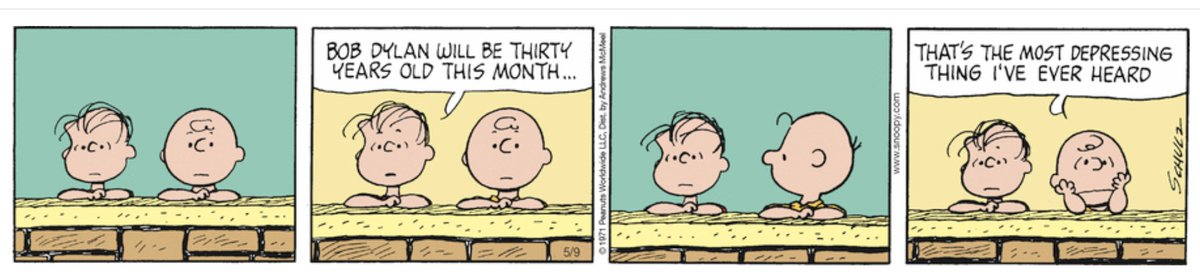 Want to feel old? Read this 1971 Peanuts cartoon about feeling old. https://t.co/JOhXtQOBOf