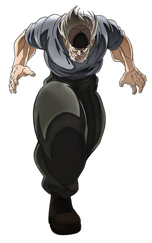 New Baki Anime Character Render And Headshot Of Kaioh Dorian Voiced By Banjo Ginga Hector Doyle Takehito Koyasu