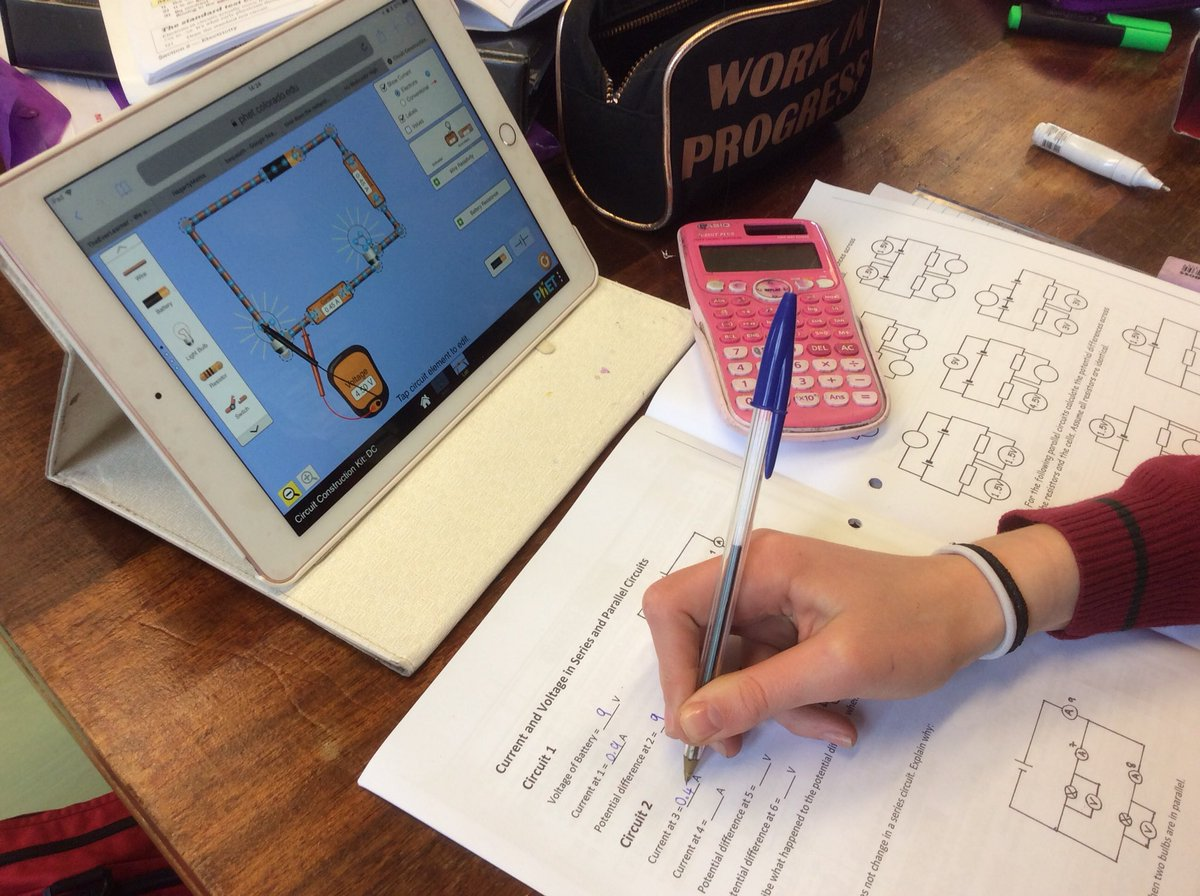 Redmaidshighscience On Twitter Many Of Our Gcse Classes Are Simulator Will Help You Easily Simulate Circuits Developed A Heres Miss Constantines Group Using The Phetsims Interactive Simulation Circuit Construction Kit At Cuboulder Physics