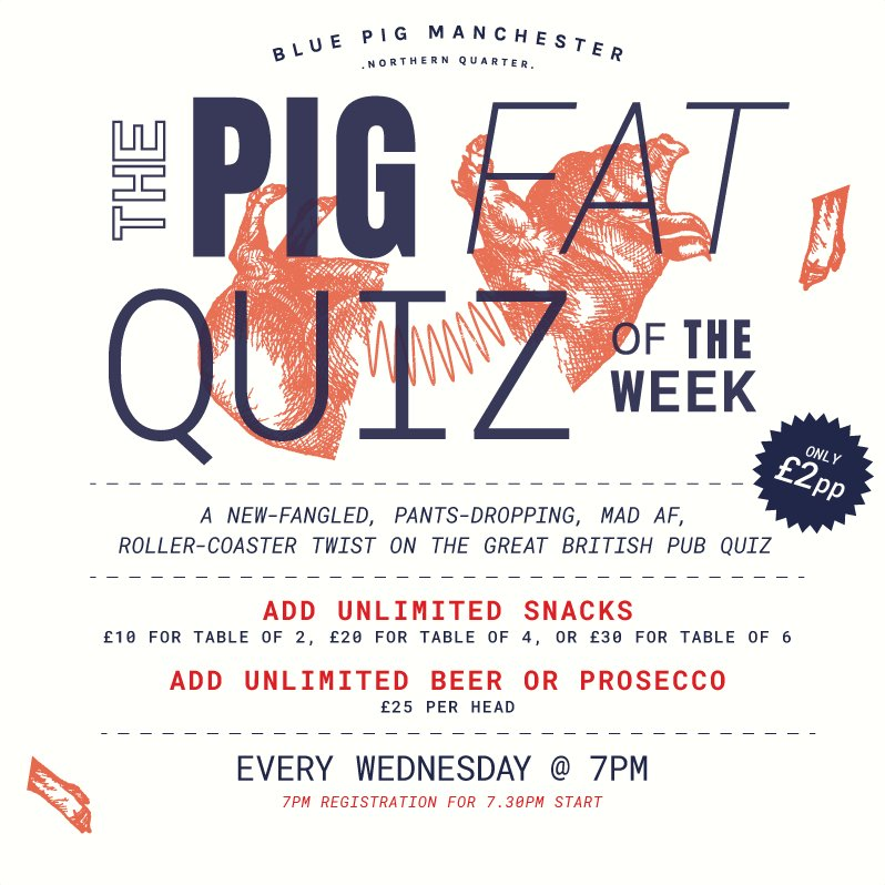 The Blue Pig Mcr 🐝 on Twitter: