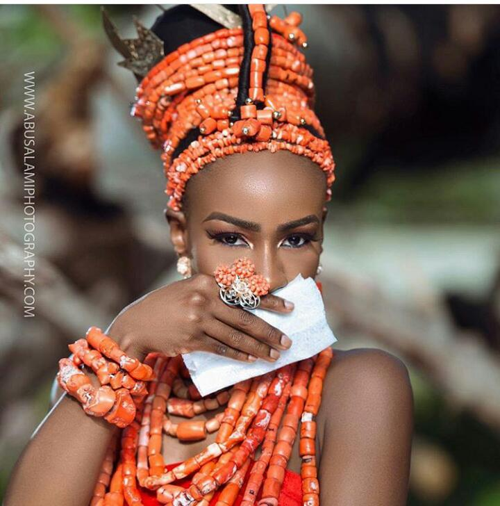 #BBNaija star Anto bridal shoot