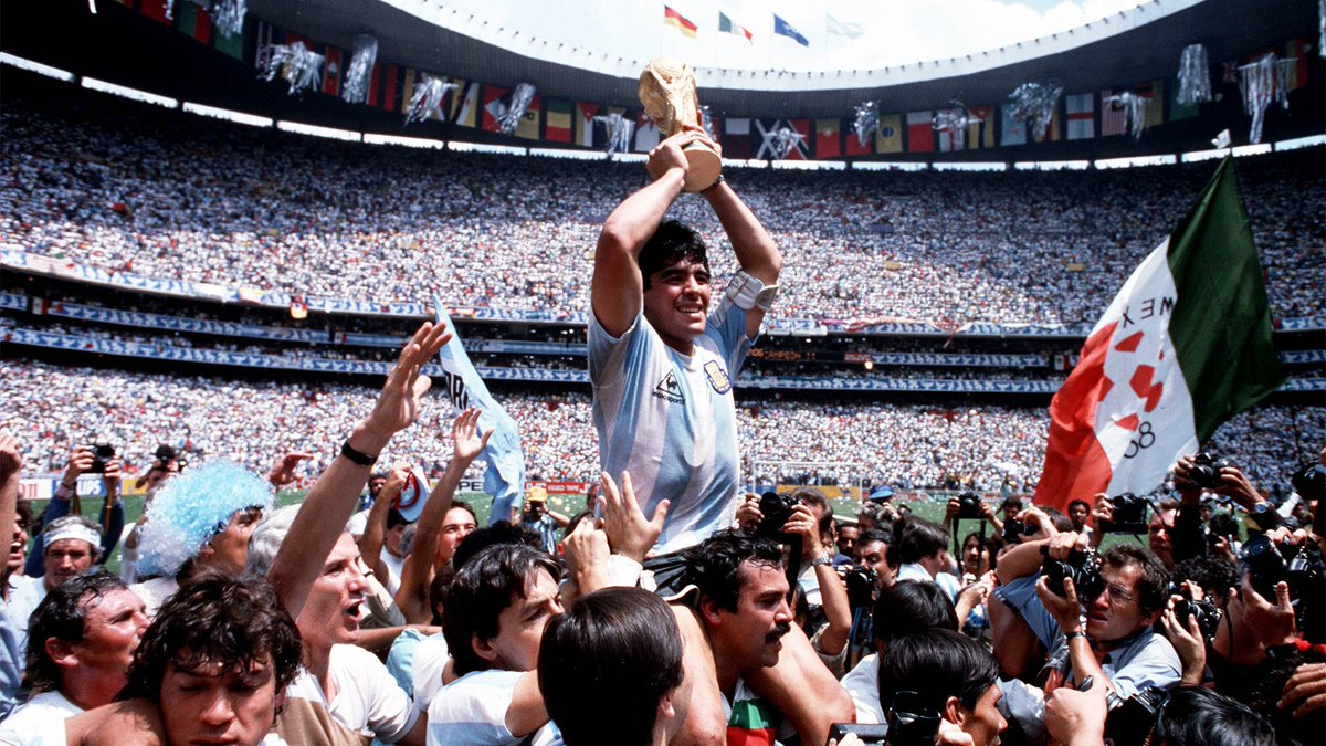 """🤩 """"When we saw a football it gave us hope.""""  Maradona's moving memories of a journey from imagining #WorldCup matches to inspiring @Argentina to glory"""