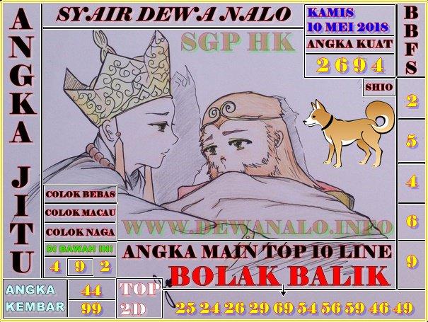 Syair Dewa Nalo Kamis 10-05-2018