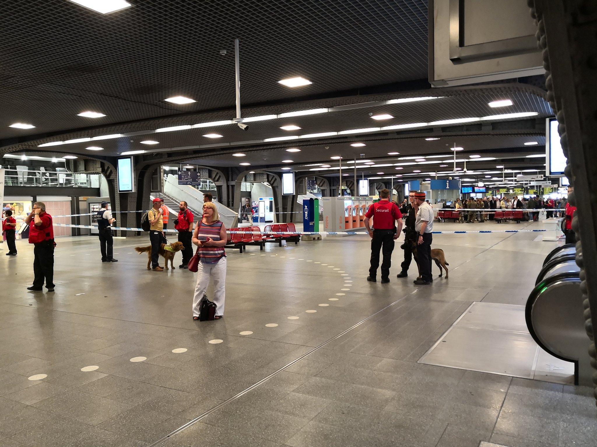 НаЮжном вокзале вБрюсселе произошел взрыв