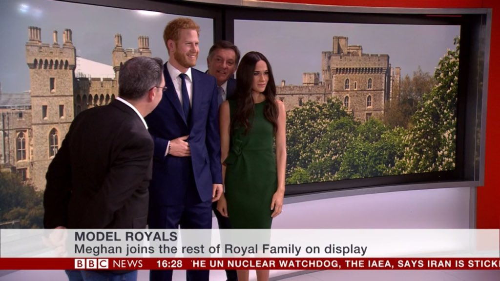 charlie proctor on twitter prince harry and meghan markle have arrived at the bbc news studio in london for an interview with their biggest fan bbcsimonmccoy well they are as close to twitter