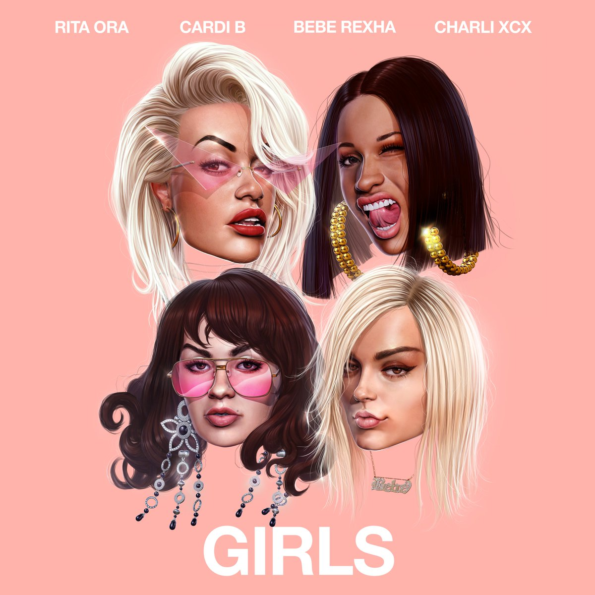 GIRLS – COMING FRIDAY 💕 @iamcardib @BebeRexha @charli_xcx