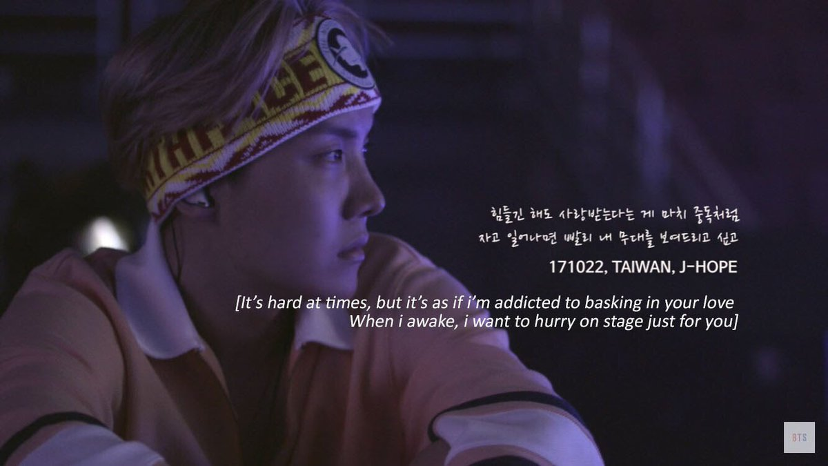 uk bts army ⁷ on burn the stage quotes each member