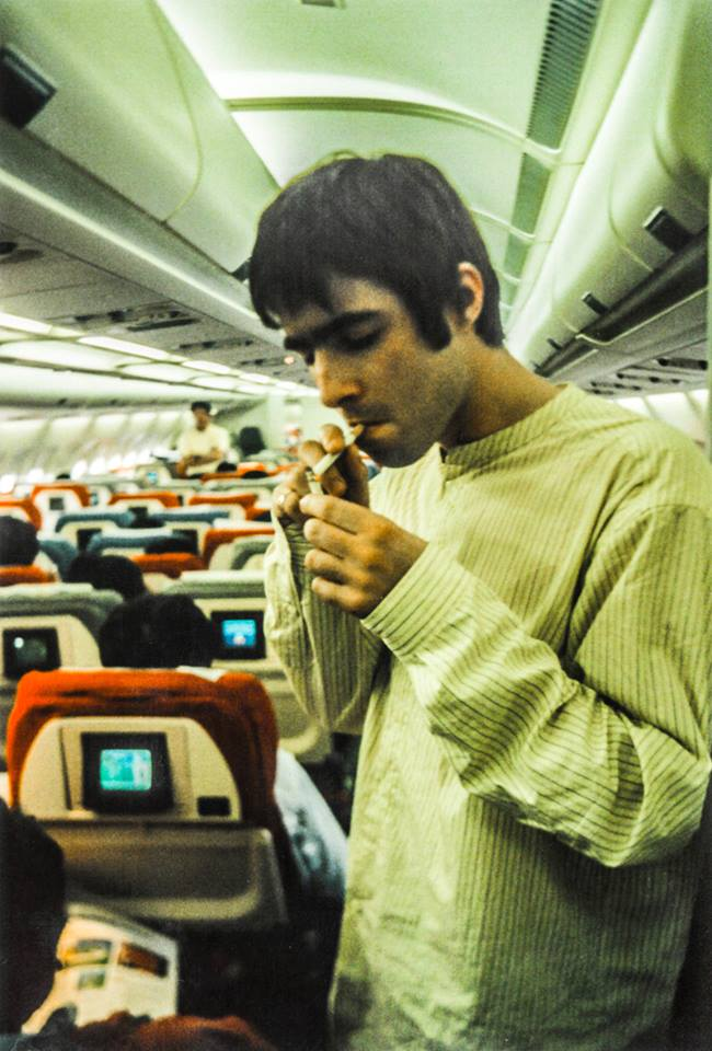 This shot of Liam was taken by tour DJ and friend, Phil Smith, on a trip to Japan in 1995. Listen to Phils 1997 G-Mex warm up playlist over on @Spotify here  ▶︎ Oasis.lnk.to/PSGMex