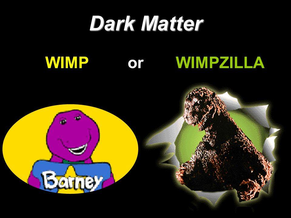 Or the supremely imaginable WIMPzilla?! ...