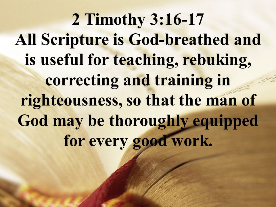 "Clear Hope on Twitter: ""2 Timothy 3:16-17 ESV All Scripture is ..."
