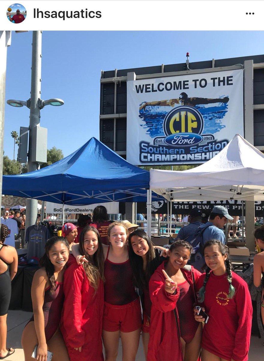 @ChrisKTLA We made it! #LoaraHighSchool #AnaheimCa #Swim