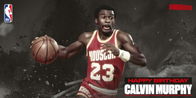 Happy 70th Birthday to legend and Hall of Famer, Calvin Murphy!
