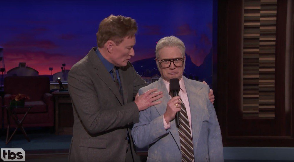 Andy Daly crashes 'Conan' as '80s game show host Reed Newport https://t.co/YoRYNd55bQ https://t.co/HOzlqxCVy9