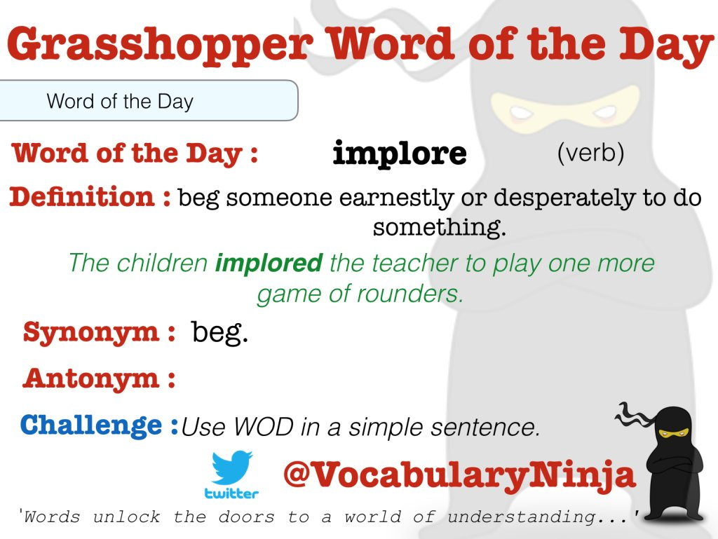 "vocabulary ninja on twitter: ""grasshopper / ks1 word of the day"