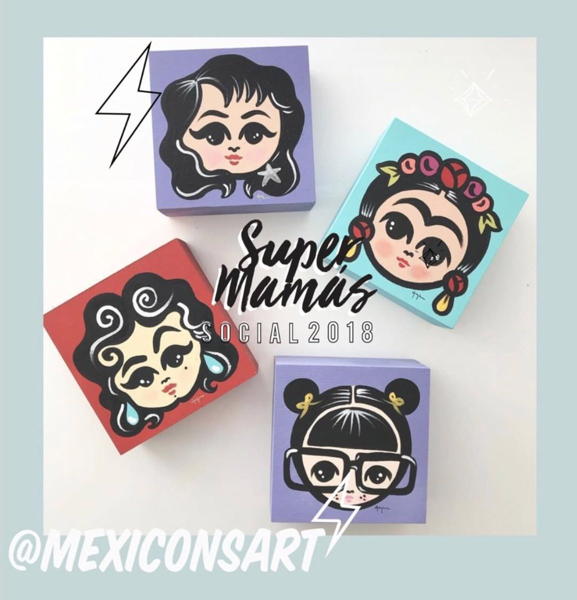 Get your hands on the super cute #mexicanicons merch from @mexiconsart ... another vendor at our #PopUpAlley