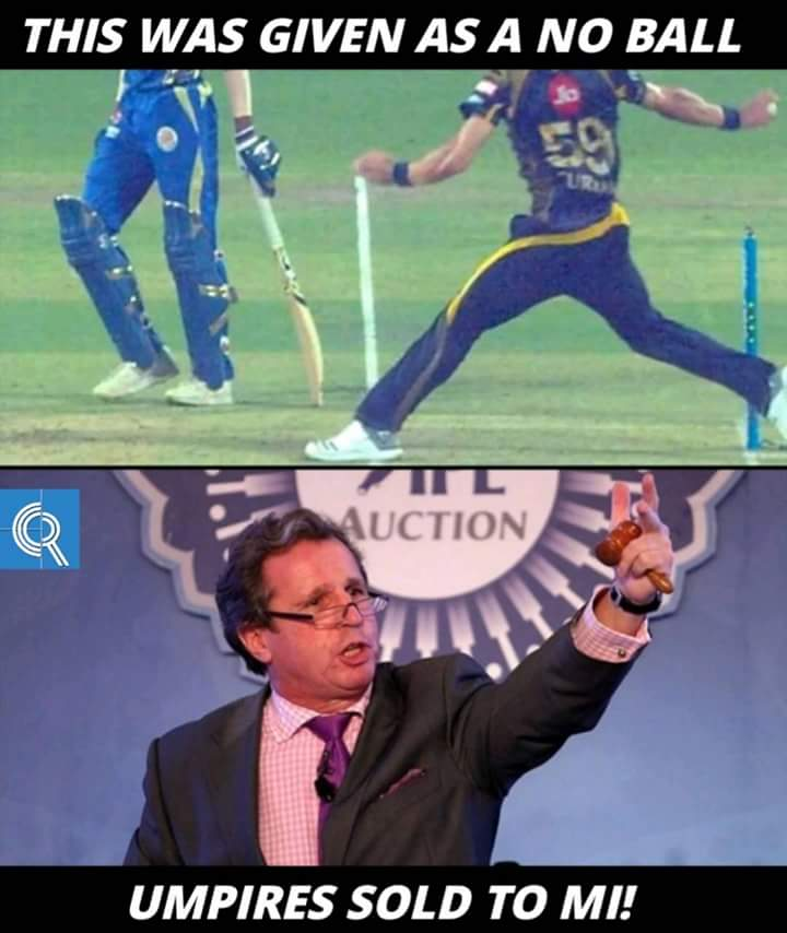 Image result for umpires sold to mumbai indians meme